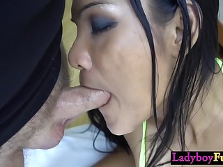 Sext naughty ladyboy shemale sucked a strangers big male pole