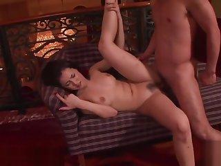 Japanese uncensored Maria Ozawa threesome with big cock