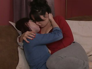 Lustful chick Siouxsie Q is making love with seductive T-girl for the first time