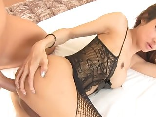 Hot big tits ladyboy drilled in her ass