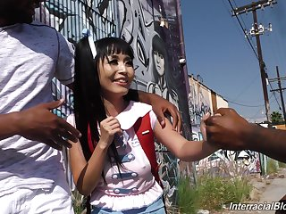 Asian babe Marica Hase in the biggest gangbang of her life