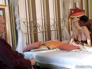 Alluring big breasted MILFie wife Angel Wicky cheats on hubby with black stud