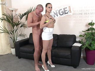 Mea Melone receives a creampie after being brutally fucked