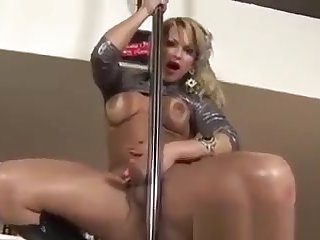 Shamele Pole Dancer Teasing In A Club