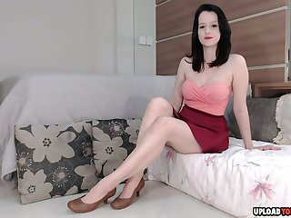 Dildoing my horny pussy in heels