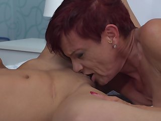 Kim O. gets her pierced pussy stroked by blonde stunner Felina