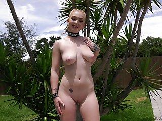Curvy blonde slut Callie Black ass fucked before she swallows cum