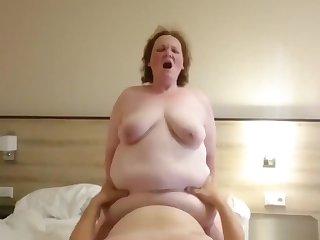 Fat Granny Lola Likes TO Ride Her Horny Hubby!