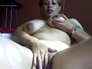 Mexican MILF Rubbing