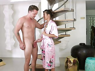 Tara Ashley gets fucked by hard boyfriend's penis while she moans