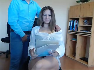 Secretary Seduces Her Boss At Work Live