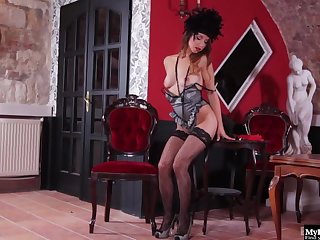 A long day of pleasing the men down at the saloon leaves this Western Glamour Doll full