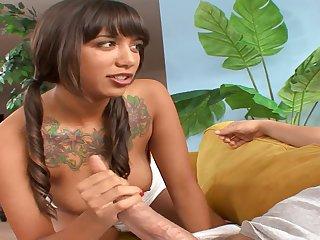 Horny Ebony Babe Blowing And Banging - mark ashley
