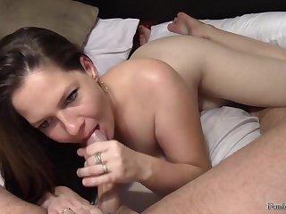 Sperm loving mommy - amateur POV sex