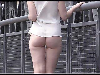 Babe Bootie In Public - Shameless Teen Girl