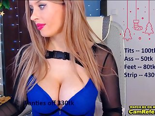 Russian Girl With Nice Rump And Jugs In Lingerie - webcam