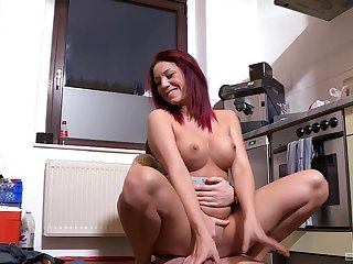 Man comes and fucks this wife in the ass
