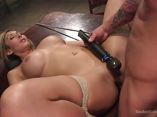 Obedient blonde gets the dick in all possible modes and holes
