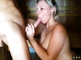 Bodacious European milf gets her peach eaten out and drilled
