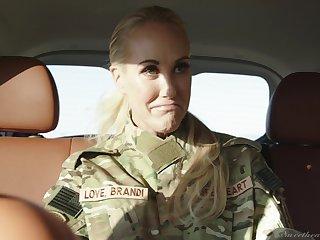Army girls Elexis Monroe and Brandi Love having lesbian sex