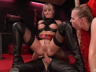 Sluts love the anal with their male slave