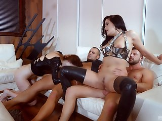Supreme cock swapping makes these whores to feel amazing