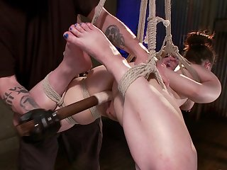 Obedient babe leaves master to treat her like a whore