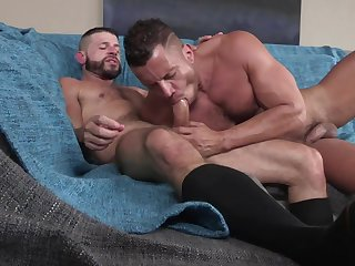 Naked gay lovers suck and fuck in crazy hardcore XXX