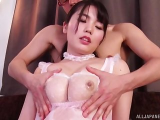 Sensual love making with adorable wife Nogi Chiharu on the bed