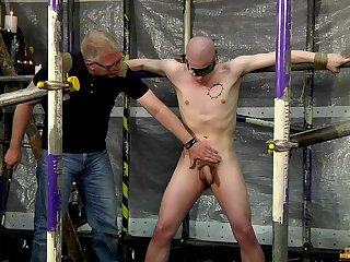 Cock and ball torture with kinky gay lovers Sebastian Kane and Oliver Wyatt