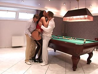 Double penetration threesome with professional escort Mandy Bright