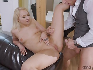 Smooth fucking at home with small tits blonde girl Marilyn Sugar
