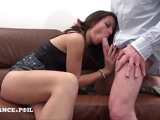 Naughty dark hair called Penis Service and gets hard hump