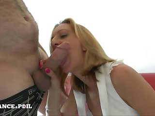Naughty milf in white lingerie anal fist fucked, hard d