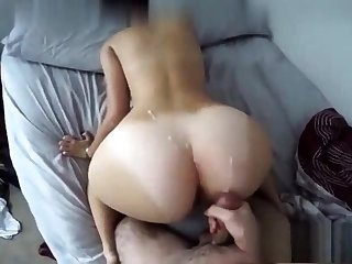 Black Ex Girlfriend Fucked Doggystyle And Cumshot On Ass