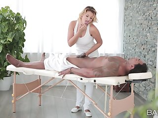 Sweet masseuse craves for this man to fuck her