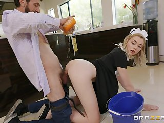 Balls deep pussy and ass fucking for blonde darling Anny Aurora
