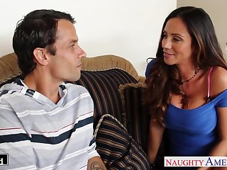 Wife's hot friend Ariella Ferrera turned out to be a good cock sucker