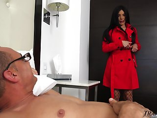 Lascivious mistress Valeria Danae gets her juicy shemale ass pounded good