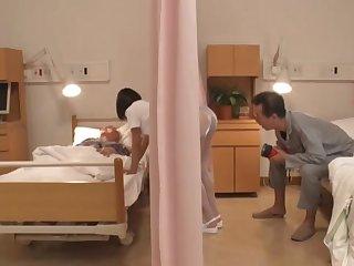 Japanese nurse gets intimate with older lover