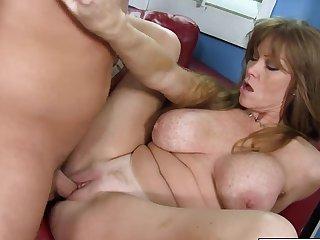 Nympho redhead Darla Crane shows boyfriend how to fuck