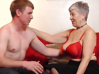 Lucky granny Savana gets her cunt pounded by a handsome guy