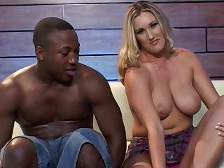 Persia A seduces a black fellow for a nasty plowing game