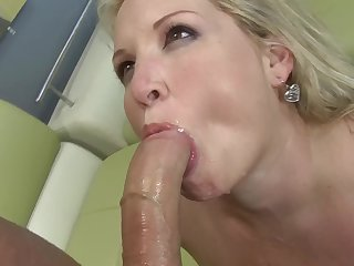 Fake tits Rachel smashed hardcore missionary then swallowing cum