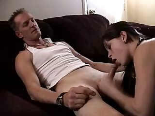 Torrid titless GF of my buddy is actually happy to work on his stiff dick